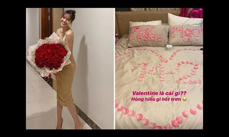 Ảnh giường xếp hoa hồng được cho là của Lan Ngọc và Chi Dân