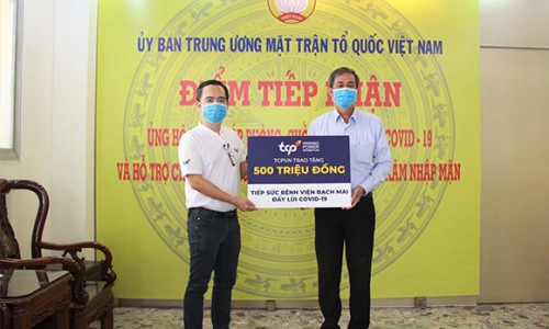 TCPVN hỗ trợ 500 triệu đồng cho Bệnh Viện Bạch Mai trong tổng giá trị hơn 800 triệu đồng đóng góp đẩy lùi dịch Covid-19