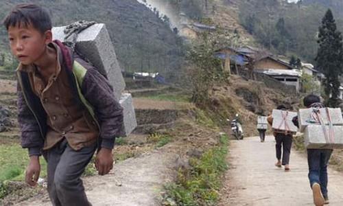 Cậu bé Hà Giang 12 tuổi cõng gạch cay kiếm 18.000 đồng/ngày được hỗ trợ hơn 40 triệu đồng