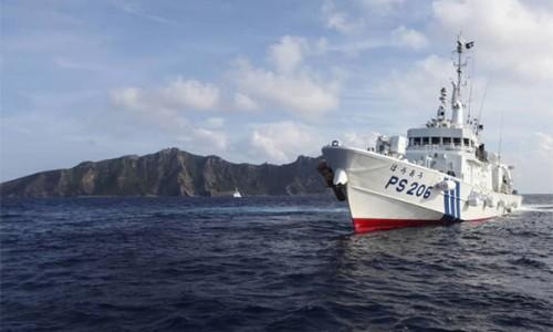 Tàu Trung Quốc rượt đuổi tàu cá Nhật Bản gần quần đảo Điếu Ngư