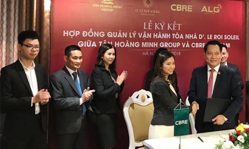 Tập đoàn Tân Hoàng Minh và CBRE Việt Nam 'bắt tay' quản lý vận hành dự án D'. Le Roi Soleil