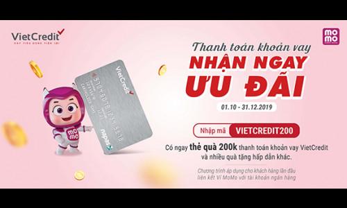 VietCredit triển khai loạt ưu đãi lớn khi thanh toán qua MoMo