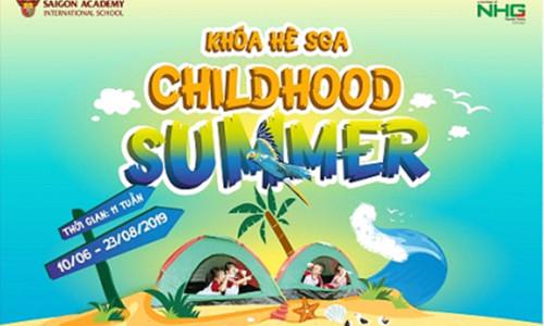 Chương trình ưu đãi đặc biệt khóa hè Childhood summer 2019 của Trường mầm non SGA