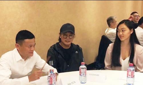 Lý Liên Kiệt và con gái dự sự kiện cùng Jack Ma
