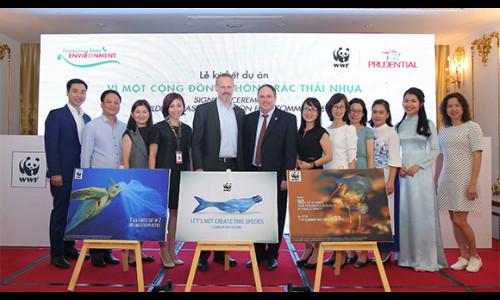 """""""Vì một cộng đồng không rác thải nhựa"""": Sáng kiến hợp tác giữa Prudential và tổ chức quốc tế bảo tồn thiên nhiên"""
