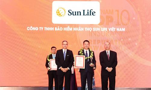 Sun Life Việt Nam đạt danh hiệu 'Top 10 công ty bảo hiểm nhân thọ uy tín nhất 2019'