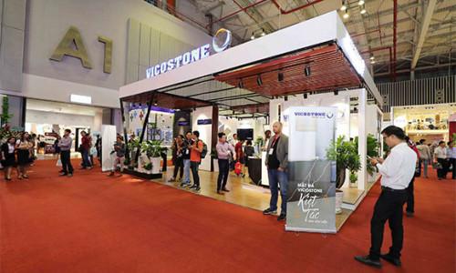 Hơi thở cuộc sống trong các sản phẩm đá VICOSTONE tại Triển lãm Quốc tế Vietbuild HCM 2019