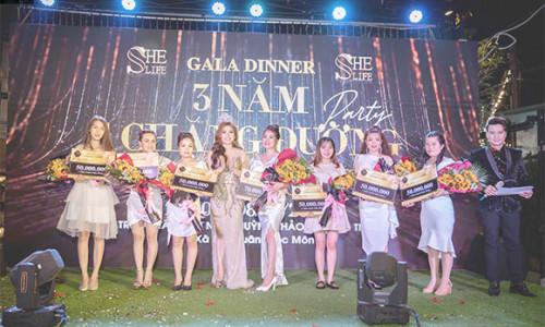 CEO Như Thuỷ tổ chức đêm gala hoành tráng kỷ niệm 3 năm thành lập mỹ phẩm She Life
