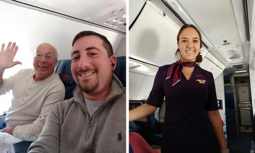 Bố bay 6 chuyến để ở bên con gái làm tiếp viên hàng không đêm Noel